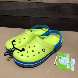 NWT Men's Crocs Lime Green/blue size 11